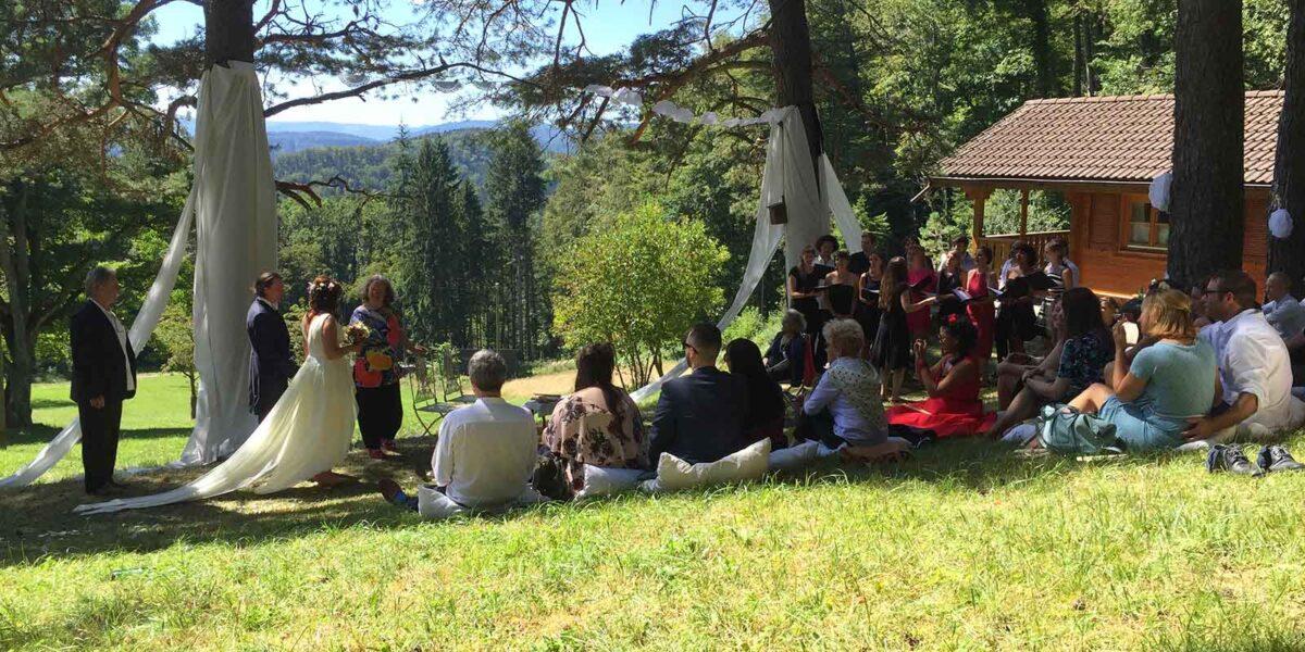 Zeremonien Trauung im Freien