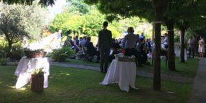 Bild: Trauung im Freien, Hochzeitslocation im Piemont